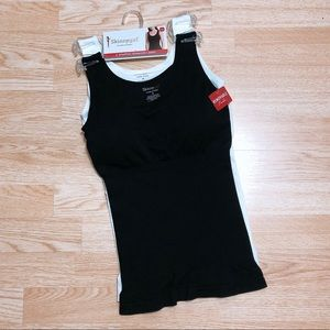 SkinnyGirl Shapewear 2 Tank with Pads